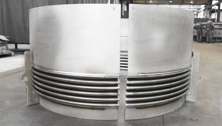 clamshell type expansion joint example 2