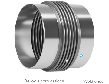 Metal expansion joint - Weld Ends Example