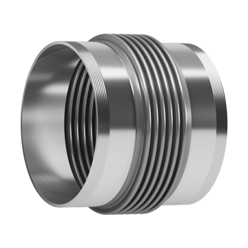 This type of Expansion Joint is made up of one single bellows fitted with external BSP or NPT threads.