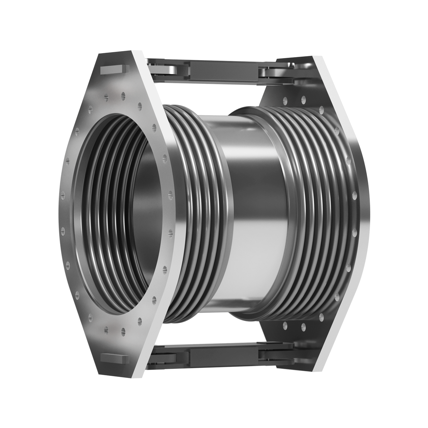 Double Hinged expansion joint with flanges.
