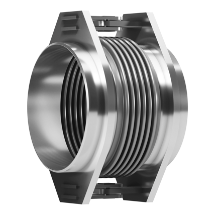 Hinged expansion joint with welding ends.
