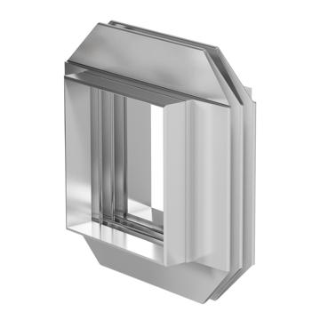 Compensador rectangular con onda en forma de V y esquina camara