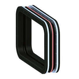 MACOGA Rubber expansion joints can be manufactured in square or rectangular shape and in any dimension. They can be also produced with or without arch and with multiple arch design for absorbing greater movements.