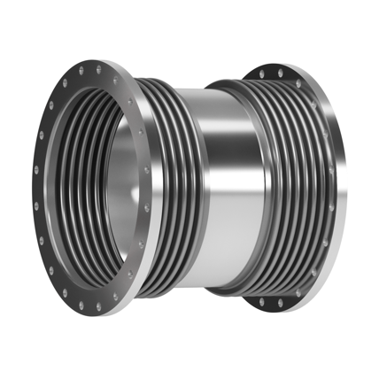 This type of Expansion Joint is made up of two bellows joined together by a central pipe provided with flanged ends.