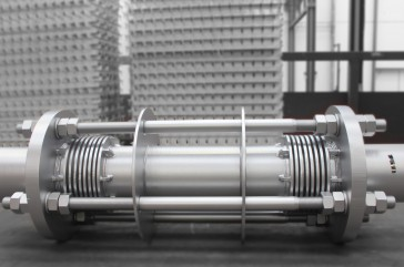 High pressure reinforced expansion joint for paper plant