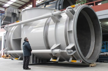 Large elbow pressure balanced expansion joint for biomass CHP plant in Cramlington, UK