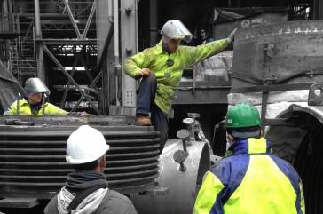 Servicio en planta, reemplazo de junta de expansión FCCU
