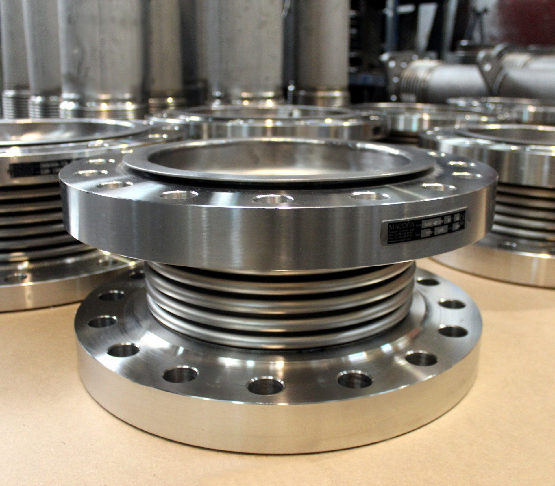 Titanium bellows expansion joints