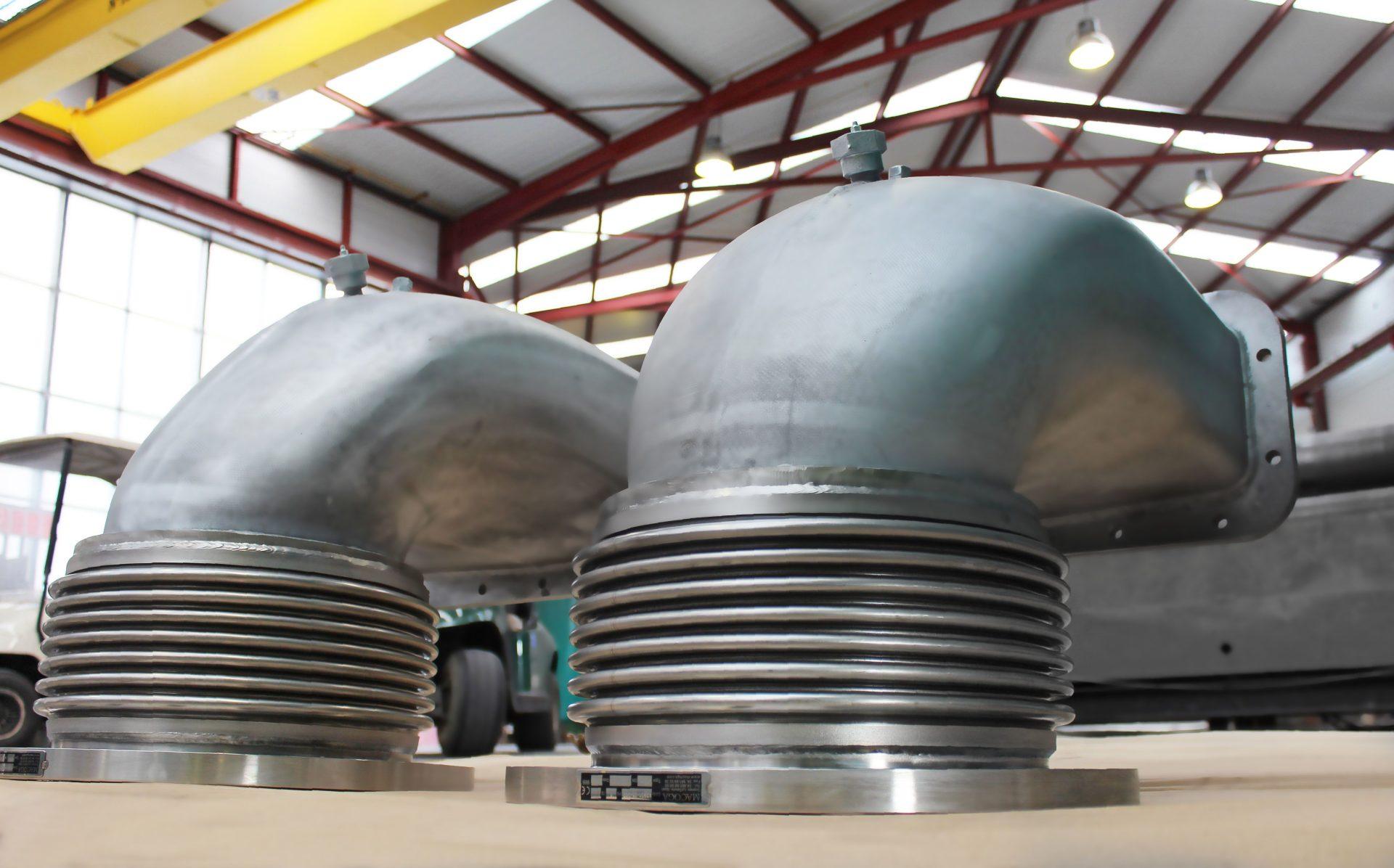 Juntas de expansión especiales para escape de motores diesel navales