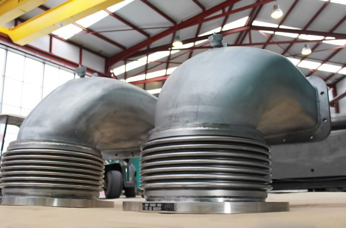 Unique Expansion Joints for ships diesel engines exhaust systems