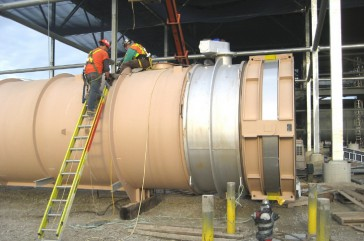 Montaje en planta de Hinged DN 2400 en MA, USA