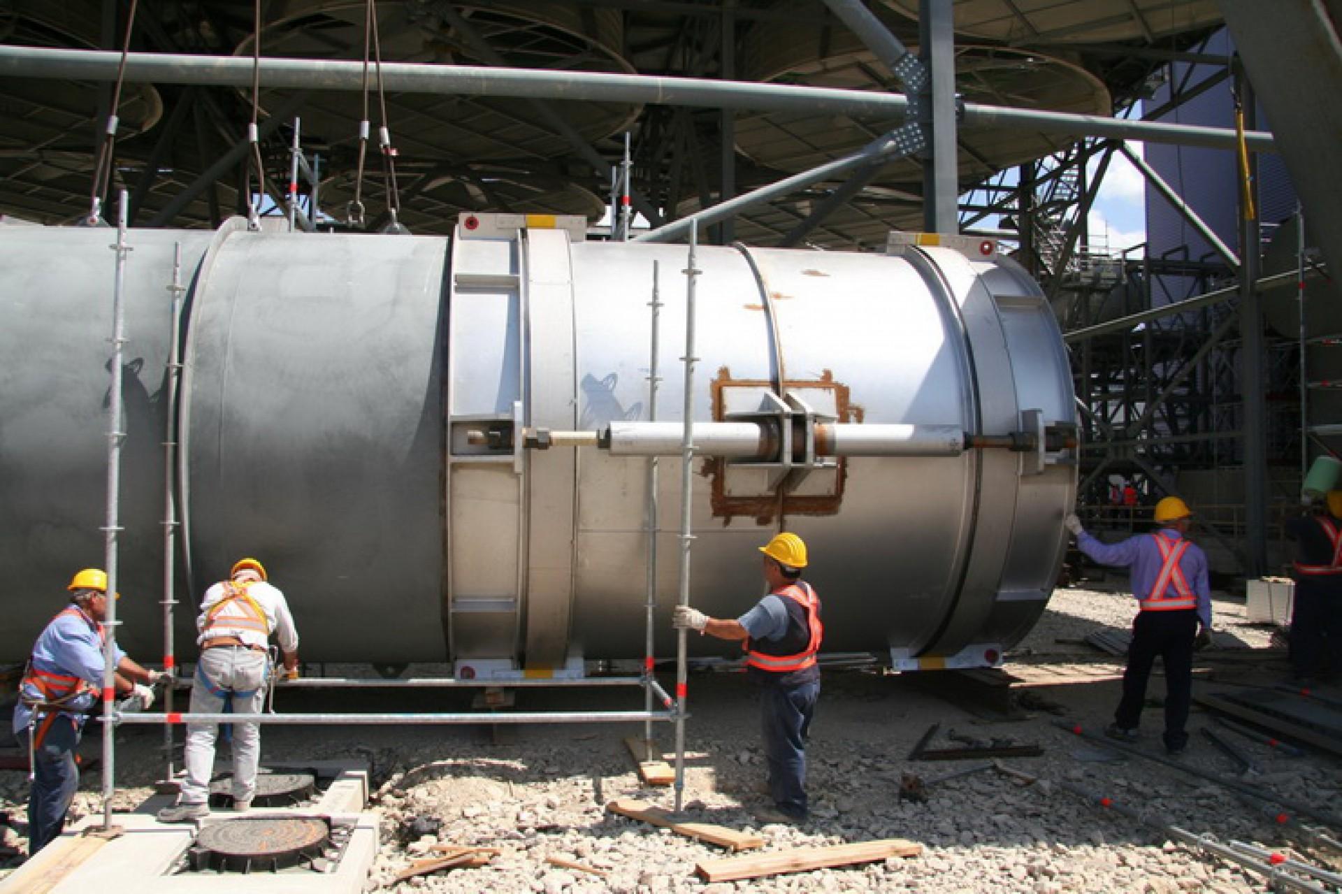 Juntas de expansión laterales MWL, Instalación en obra en los EE.UU.