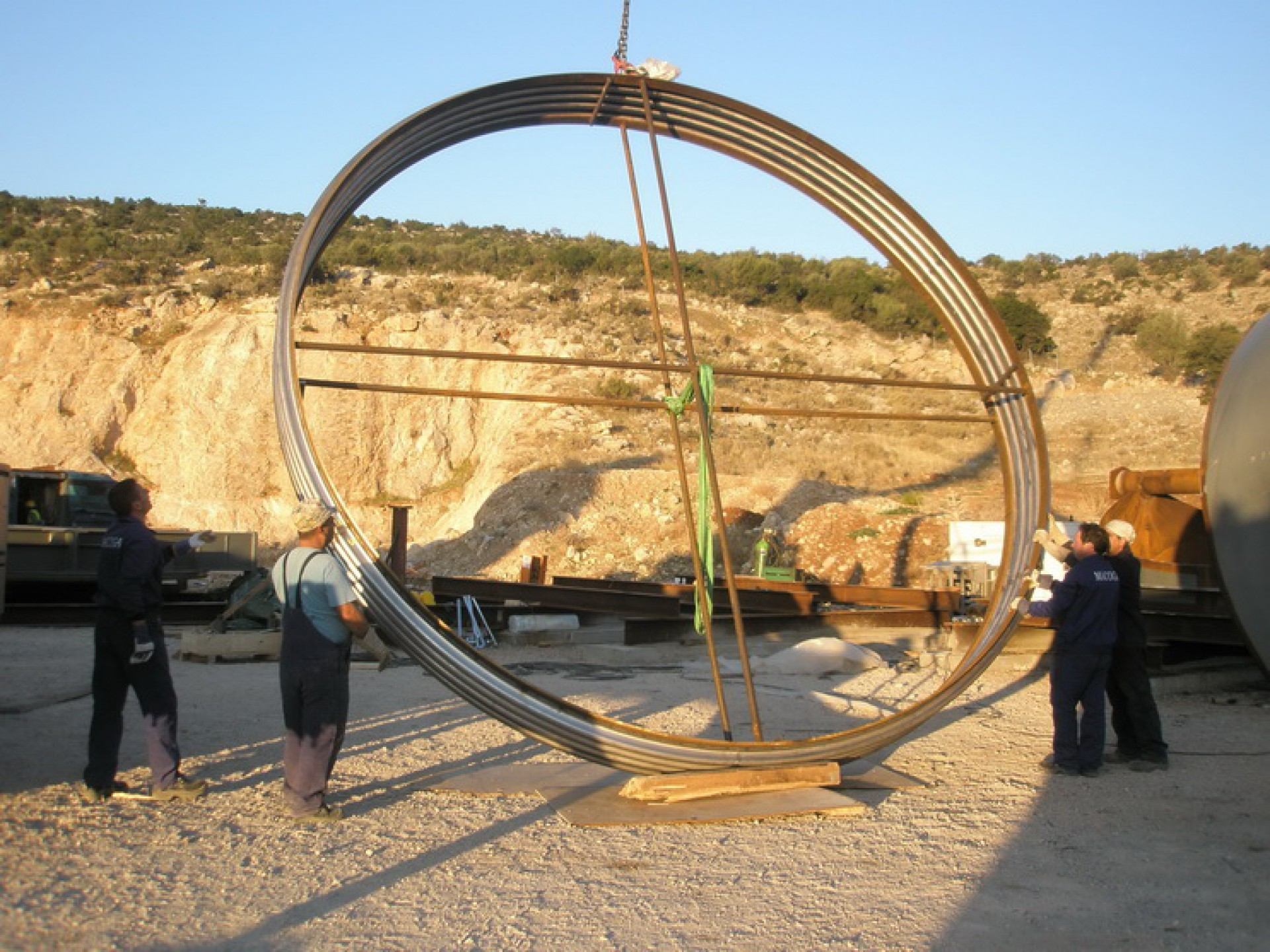 Assembly of Turbine to Condenser Expansion Joint in Greece