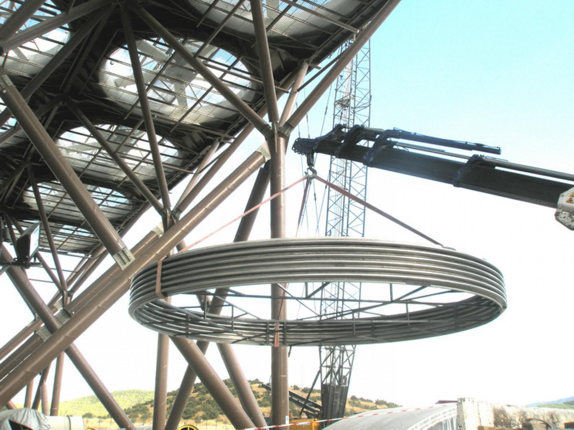 Junta tipo MUX para conexión de turbina a condensador, DN 7000 – Grecia