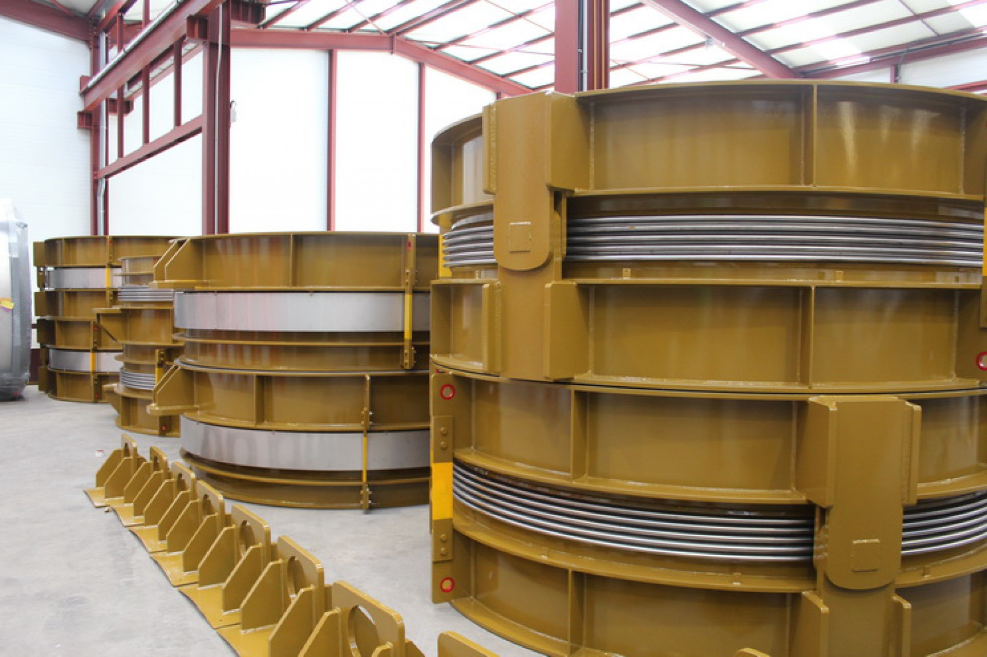 Hinged y Laterales DN 3000 para la central eléctrica de Warren County, North Virginia, EE.UU