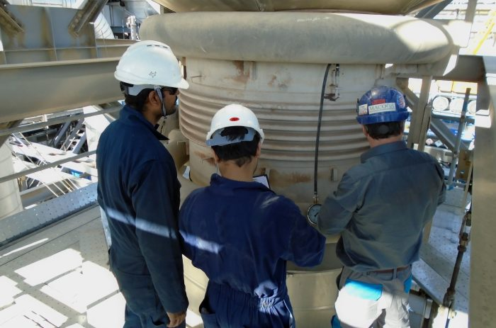 On-Site Service. Inspection of 2 ply testable bellows in the Middle East