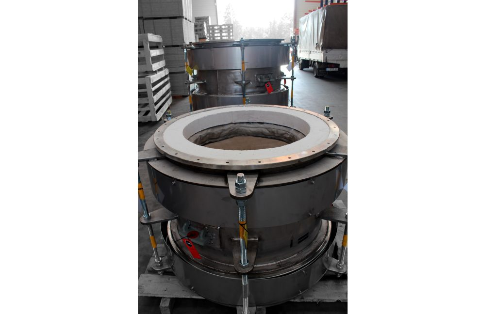 High Temperature (+1000 °C) Expansion Joints for gold processing facility