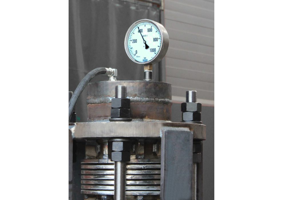 High Pressure Expansion Joint tested at 409 barg (5932 psi) for Biomass Power Plant in Scandinavia