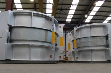 Titanium Double Hinged and large size Hinged Expansion Joints for the world's leading steel and mining company