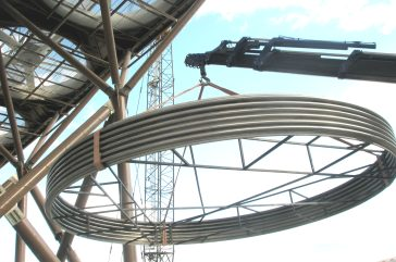 Oct. 2011 - Successful On-Site Assembly works of 2 units MUX DN 7000 in Turkey