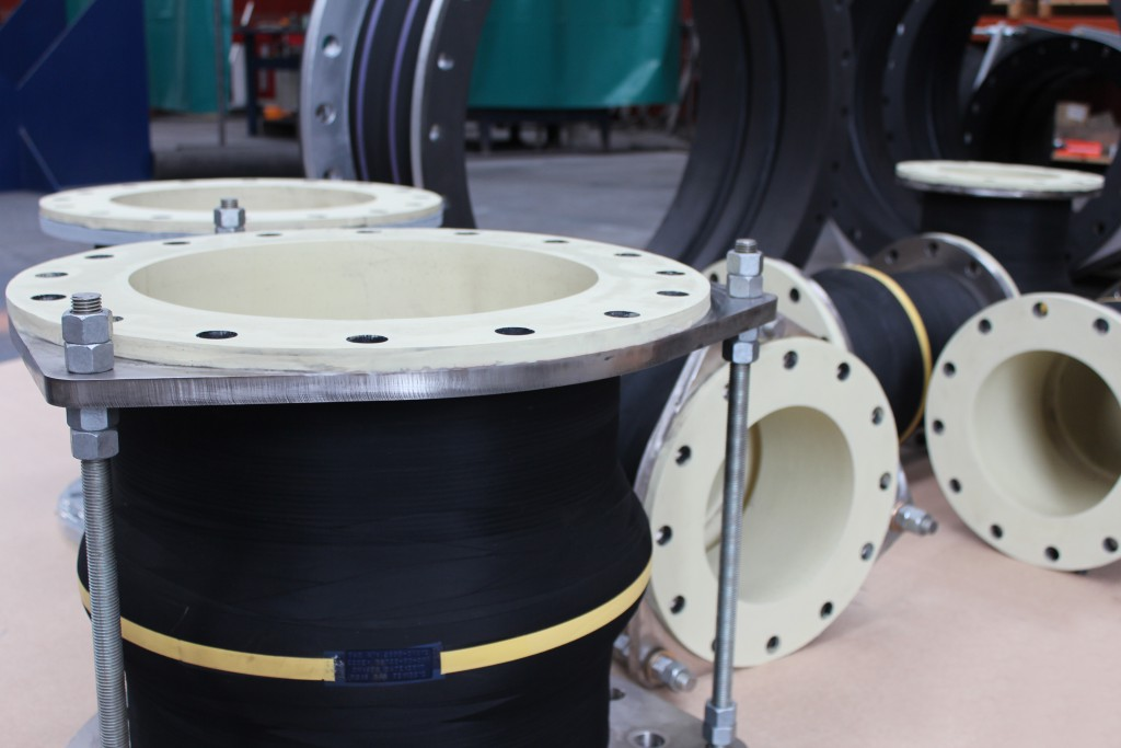 White Nitrile MAC-F and MAC-FT Rubber Expansion Joints