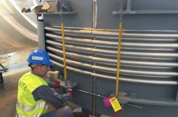 On-Site Service. Successful assembly works in Trinidad & Tobago