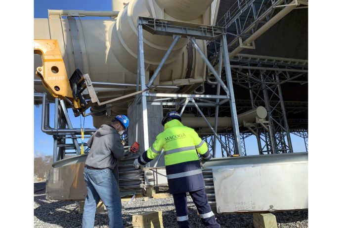 Servicio en planta en una Central de Generación de Energía en USA.