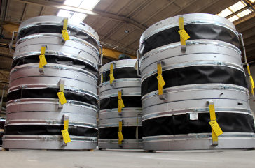 Metallic Expansion Joints with outer PTFE fabric protection cover for a US Steel Plant