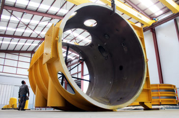 Large Double Hinged Expansion Joint DN 4730 mm and Hot Box for Middle East Power Plant